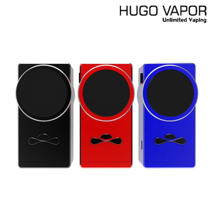 Original Hugo Vapor Delux 220W TC Box MOD with 1.33 Inch Full Color IPS Screen & Advanced Balance Charging E-cig Vape Mod kit newest and hotest product e cig vapor mod god 180s with 220w box mod dry herb smy god 180s mod