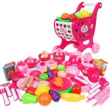 73pcs/set Pink Kitchen Food Cooking Role Play Pretend Toy Girls Baby Child,baby kid plastic kitchen toys play kitchen Xmas Gift