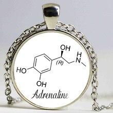 Chemistry Jewelry Adrenaline necklace Epinephrine Jewelry Glass Pendant Necklace Biology Pendants adrenaline molecule jewelry