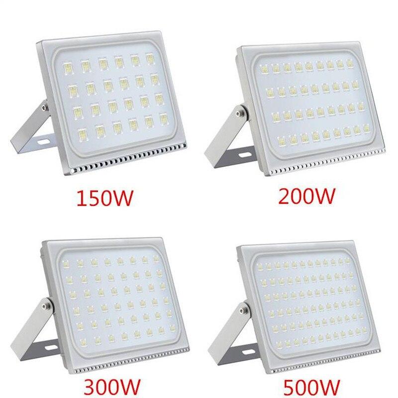 1 個超薄型 Led フラッドライト 150 ワット 200 ワット 300 ワット 500 ワット IP65 110 V/220 V LED スポットライト Refletor 屋外照明ウォールランプ投光器