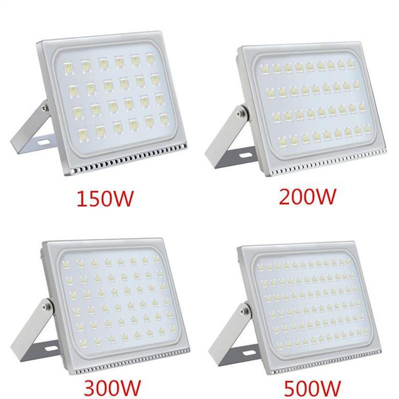 1 uds, reflector LED ultrafino de 150 W, 200 W, 300 W, 500 W, IP65, 110 V, 220 V, reflector LED, reflector de iluminación exterior, lámpara de pared, reflector