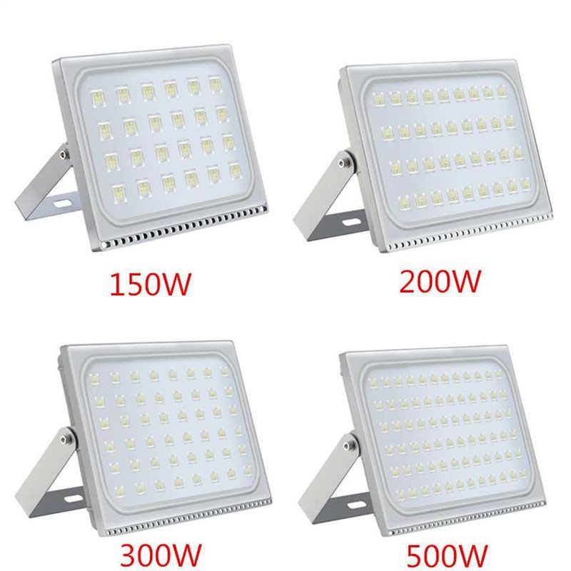 1PCS Ultradünne LED Flutlicht 150W 200W 300W 500W IP65 110 V/220 V led-strahler Refletor Außen Beleuchtung Wand Lampe Flutlicht