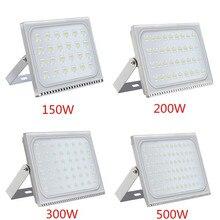 1 шт. ультратонкие светодио дный прожектор 150 Вт 200 Вт 300 Вт 500 Вт IP65 110 В/220 В светодио дный Spotlight Refletor Наружное освещение Бра прожектор