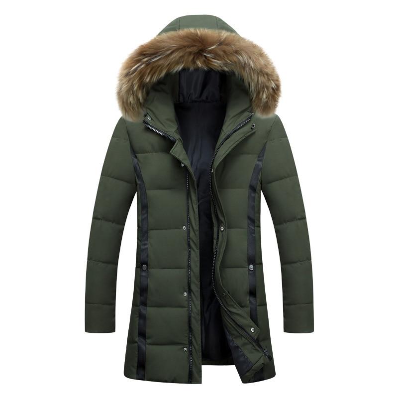 2017 Fashion winter jacket men coat thick Warm with fur hood Removable parka men coat masculine jacket цены онлайн