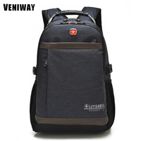 VENIWAY Brand Swiss Cross Gear Waterproof Laptop Backpack 15 Inche Large Capacity Men Backpacks Travel Bag