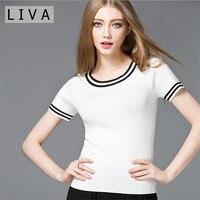 All Match Summer Women T Shirt Cotton Comfortable Wearing 2017 Basic T Shirt Women Summer Short