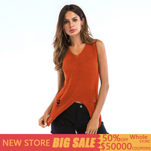 Sexy Hollow Out Hole Tank Top Women Solid Knitted Sleeveless Casual Sheer Back Summer Top Women Streetwear Top Mujer Verano 2019