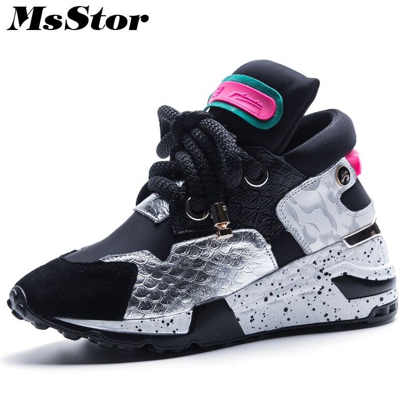 Comprar MsStor Colores Mezclados Zapatos Planos De Mujer