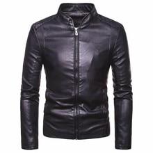 Мужская Осенняя Новинка, мотоциклетная повседневная искусственная кожа, теплая куртка, пальто для мужчин, Весенняя мода, Мужская ветрозащитная куртка, пальто для мужчин