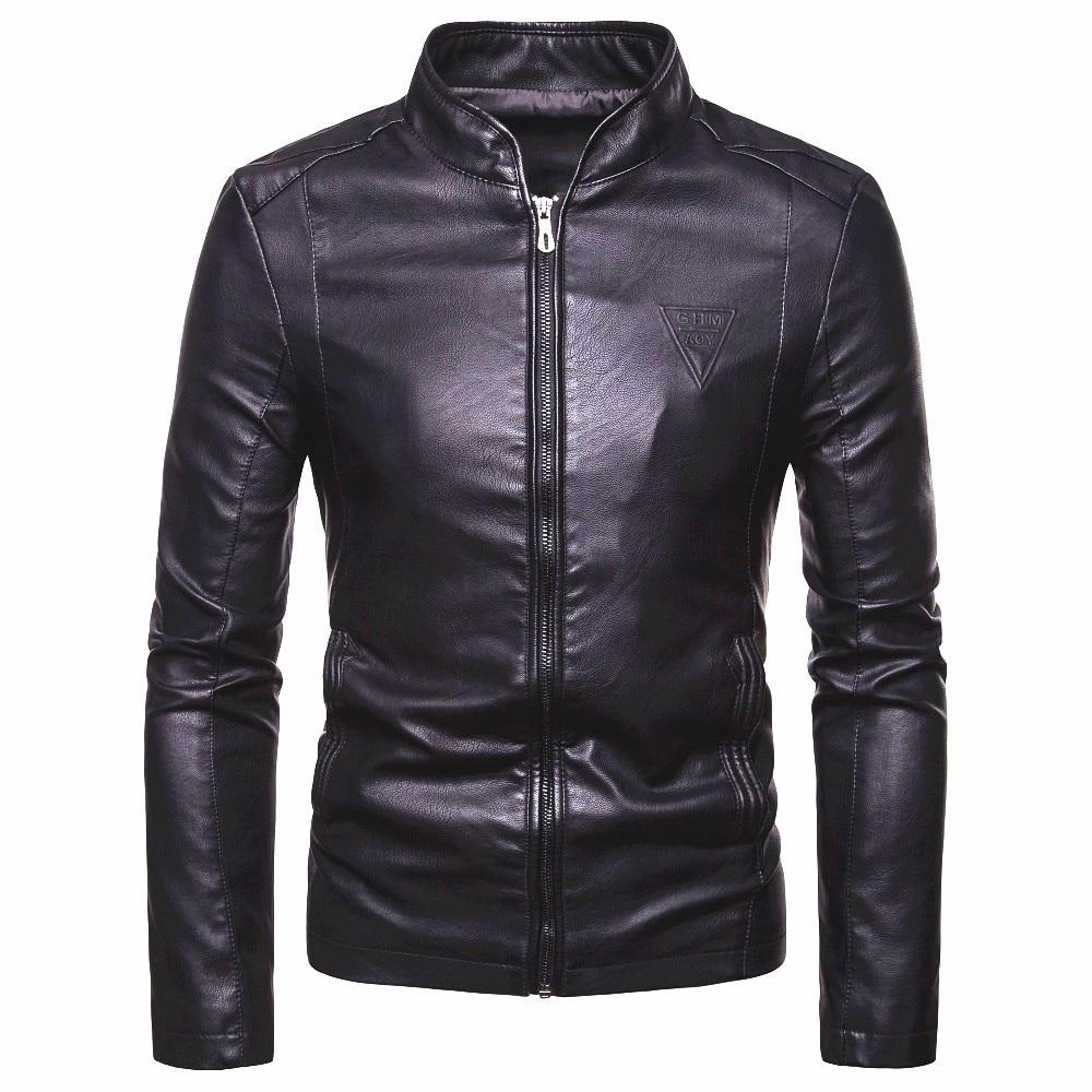 Мужская Осенняя Новинка 2019, мотоциклетная повседневная искусственная кожа, теплая куртка, пальто для мужчин, Весенняя мода, Мужская ветрозащитная куртка, пальто для мужчин