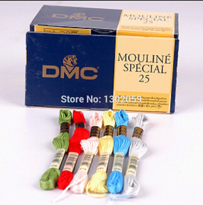 447 pieces Original French DMC Thread Embroidery Thread Floss 100 Pieces Of Needle
