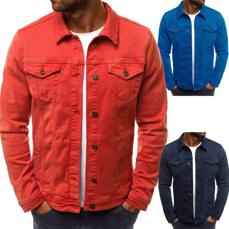 2018 männer Denim Jacke Hohe Qualität Mode Jeans Jacken Slim Fit Casual Streetwear Vintage Herren Jean Kleidung Plus Größe M-3XL