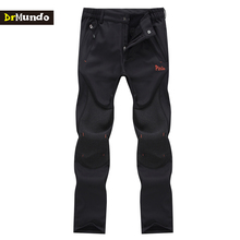 DrMundo Winter waterproof mens snow pants thicken solft shell outdoor fleece hiking pants men snowboard trousers skiing pants