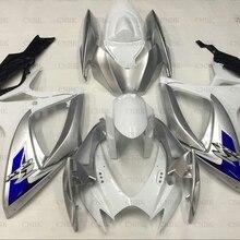 Для GSX-R750 2006-2007 K6 мотоцикл обтекатель GSX-R600 06 серебро красно-белый обтекатель GSXR600 2006 обтекатель Наборы Неокрашенный