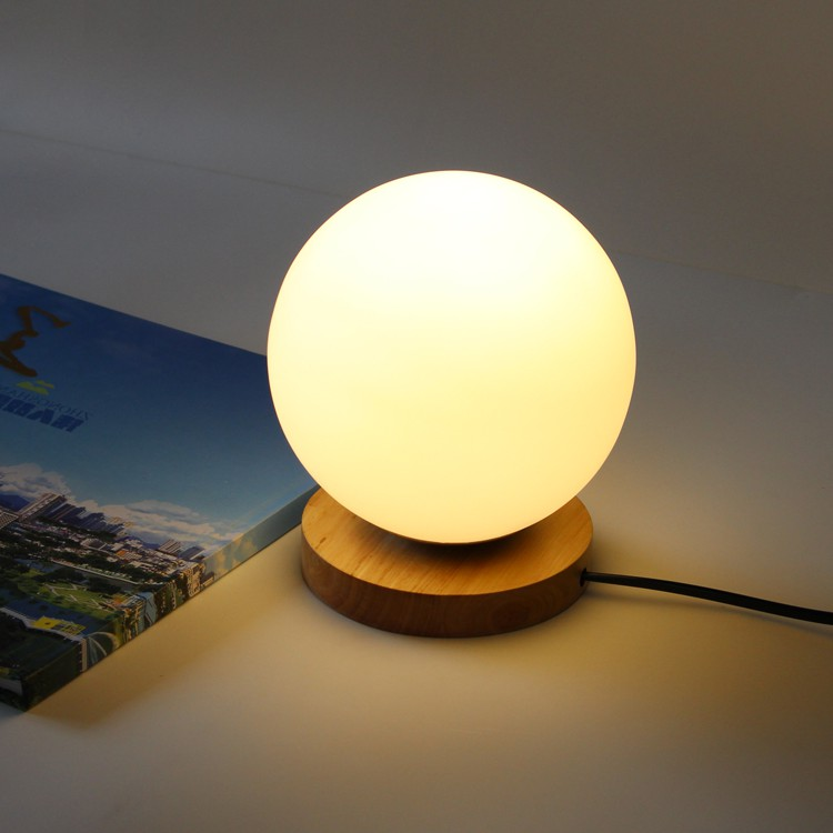 Simple Wooden Glass Ball table Lamps Creative Warm Night Light Bedroom Bedside Table lights Decorative Home Lighting lamp ZA simple wooden glass ball table lamps creative warm night light bedroom bedside table light decorative home lighting lamp za mz88