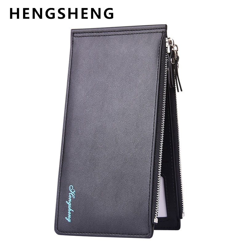 Classical Long Style Quality Ultrathin Bank Card Sets Mens Multi Bits Credit Card Holder Large Capacity Wallet Zipper Purse