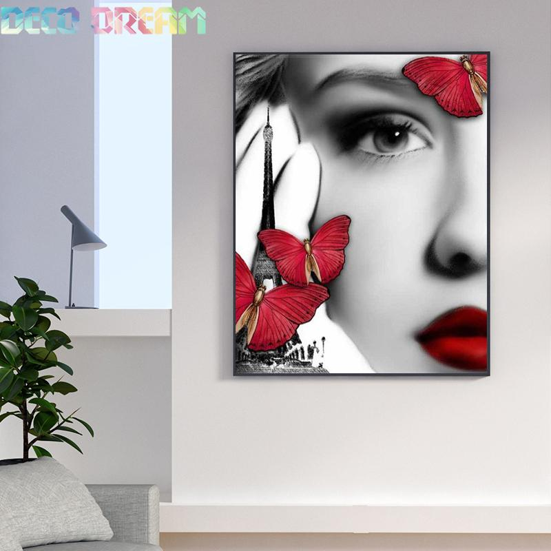 Diy Full Round Resin Kids Diamond Embroidery Painting Rhinestones Kit Sexy Of Red And Black A Mosaic Decoration Good Hobby Gift in Diamond Painting Cross Stitch from Home Garden