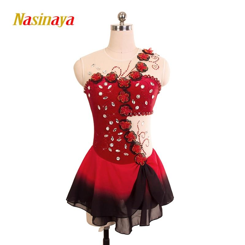Nasinaya фигурное катание платье заказной конкурс Катание на коньках юбка для девочки Для женщин дети patinaje гимнастика производительность 168
