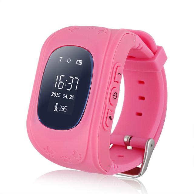 TOP GPS Relógio Inteligente para o miúdo Chamada SOS Localizador Localizador Rastreador relógio de Pulso Anti Bebê Perdido Q50 iOS smartwatch Android