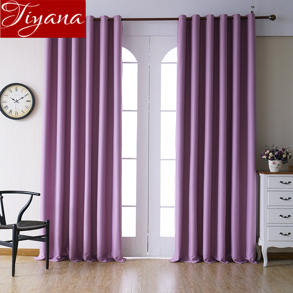 awesome light green living room curtains   Blackout Curtain for Living Room Solid Color Gray Kitchen ...