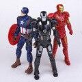 Гражданской Войны Marvel Мстители Железный Человек Капитан Америка Железный Патриот ПВХ Фигурки Игрушки 16 см 3 шт./компл.