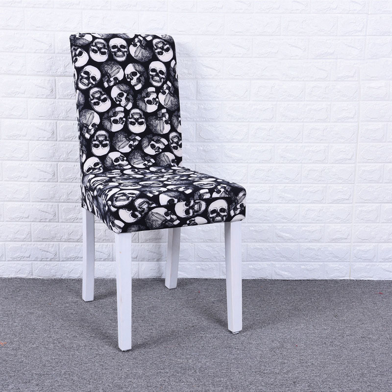 Peachy Us 4 69 Sugar Skull Printing Stretch Chair Cover Elastic Seat Chair Covers For Kitchen Slipcover Restaurant Banquet Hotel Home Decor In Chair Cover Evergreenethics Interior Chair Design Evergreenethicsorg