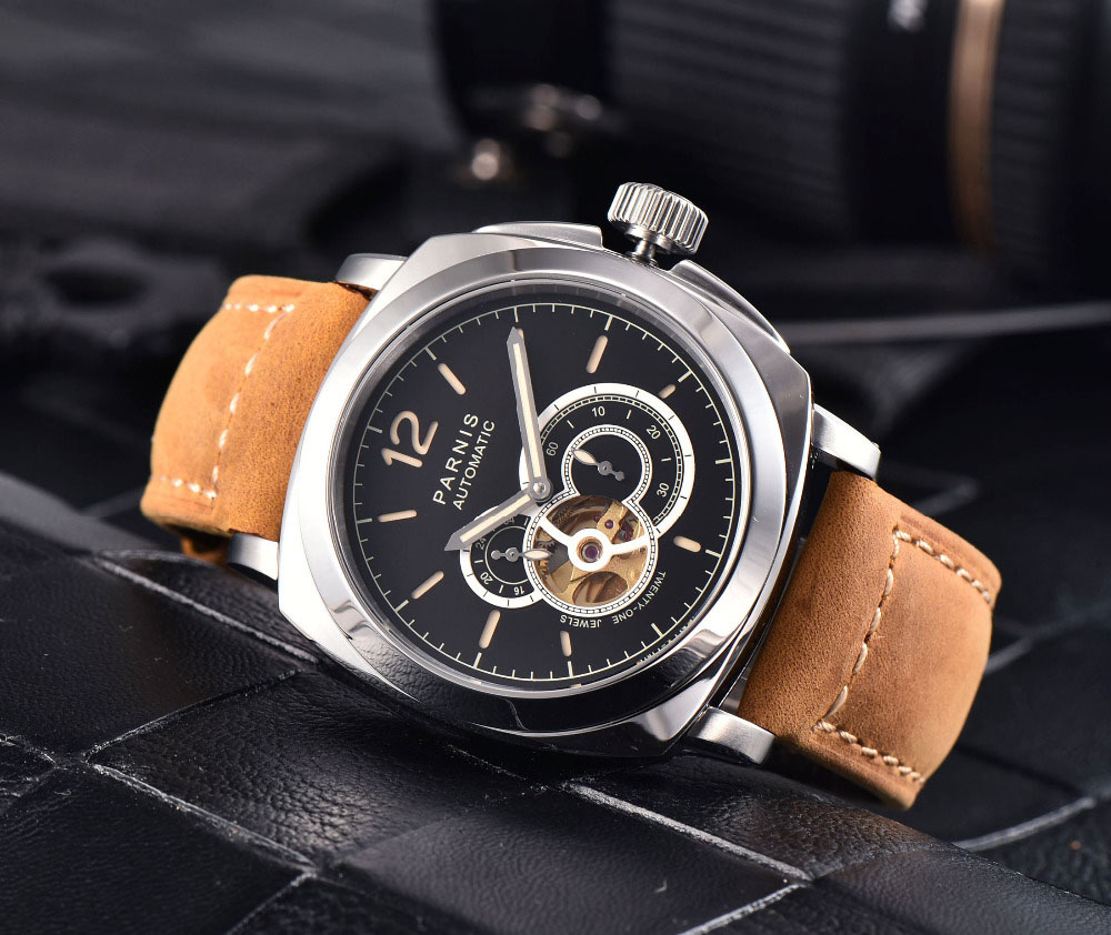 2017 Newest Hot 44mm Parnis Black Dial Luminous Marks Sapphire Crystal Miyota Automatic Self-Wind Mechanical Mens Wristwatches2017 Newest Hot 44mm Parnis Black Dial Luminous Marks Sapphire Crystal Miyota Automatic Self-Wind Mechanical Mens Wristwatches