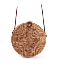 Circle Rattan bag shoulder Beach Bag Round Woven Straw Bag Women Boho Bali Handbags Summer 2019 Handmade Crossbody drop shipping все цены