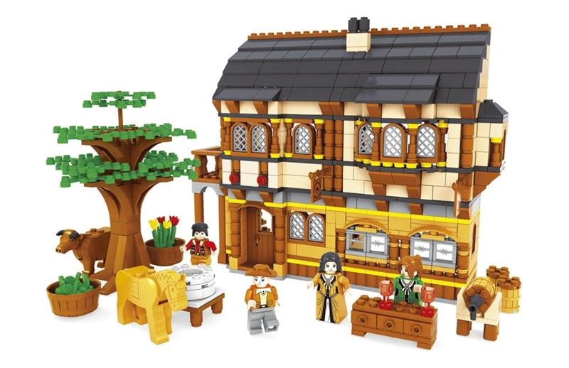 Jeu de blocs de Construction compatible avec lege happy farm 257 3D Construction brique loisirs éducatifs jouets pour enfants