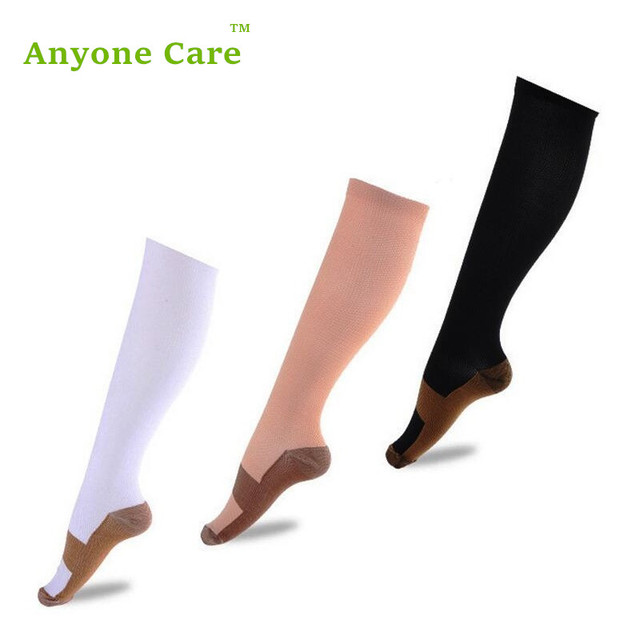 51a7a41d07 Anyone Care Anti-Fatigue Compression Socks Great for travel Varicose veins  Women and Men's Miracle copper socks