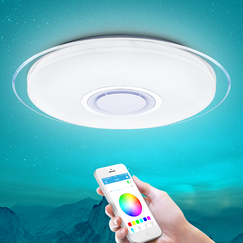 Smart Led Ceiling Light RGB Dimmable 25W 36W 52W APP Control Bluetooth & Music Modern Led Ceiling Lamp Living Room/bedroom 220v(China)