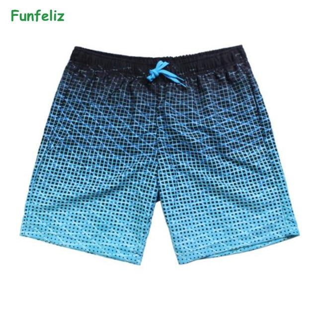 9a0da1b167 Funfeliz Men Swimwear Shorts Mens Boxer Swimsuit Man Pocket Swim Trunks for  Men Boxer Bathing Suit Boys Surfing Swimming Shorts