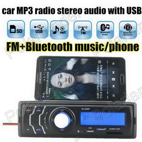 Hot New Car Radio MP3 Player Audio Auto Stereo FM Receiver USD/SD Card /AUX in In-Dash bluetooth music phone