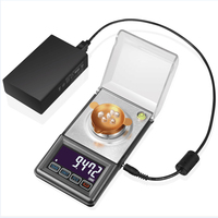 High Precision Digital Jewelry Carat Scale LCD Touch Electronic Scales Backlight Weight Balance Gem Diamond Scales USB Charger