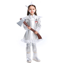 Deluxe The Wizard Of OZ Tin Man Costume Cosplay For Girls Halloween Costume For Kids футболка с полной запечаткой мужская printio battlefield v