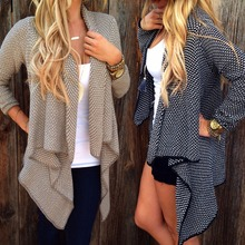 Fashion Women Cardigan Loose Sweater Long Sleeve Knitted Outwear Jacket Coat