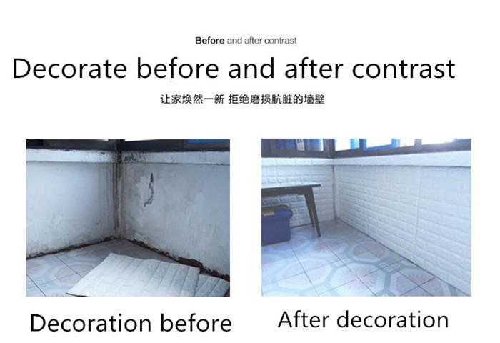 PCV 3D salon mur ceglany wzór tapety stickie dormitorium sypialnia retro wzór tapety adhesive392-F cegły 21