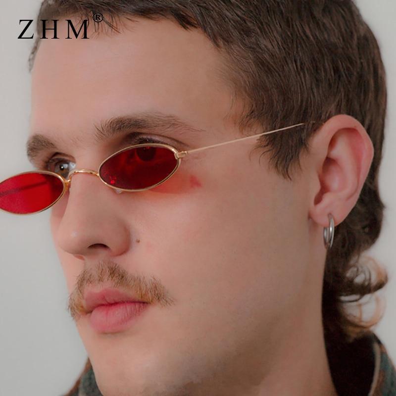 2018 majhna ovalna sončna očala za moške retro moški kovinski - Oblačilni dodatki
