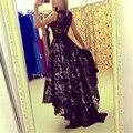 Сексуальные Женщины Рукавов Пром Ball Партия Длиной Макси Кружева Dress