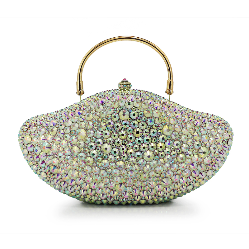 Crystal Women Peacock Shape Handbag Metal Evening Bags Minaudiere Ladies Party Purse Wedding Clutch Bridal Bag(B1004-BY) women evening handbag beads clutch bags wedding party bridal purse bag vintage embroidered flower ladies totes bags