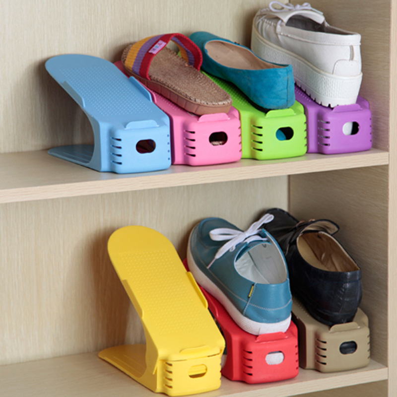 Simple one-piece shoe rack shoe double stereo storage creative high quality plastic and durable 5 pieces/lot reinforcing steel double simple shoe storage rack assembly cheap thicker dust specials