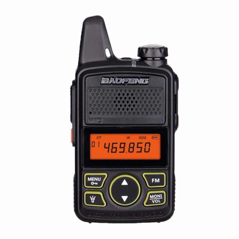 2 шт. BAOFENG BF-T1 портативная рация мини двухстороннее радио UHF 400 мГц 20CH портативный детский Walk Talk Ham FM CB ручной трансивер