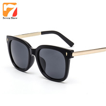 2017 gafas de Sol Cuadradas Mujeres Hombres Diseñador de la Marca de La Vendimia Gafas de Sol Para Hombre Mujer Shades Gafas De Sol Feminino