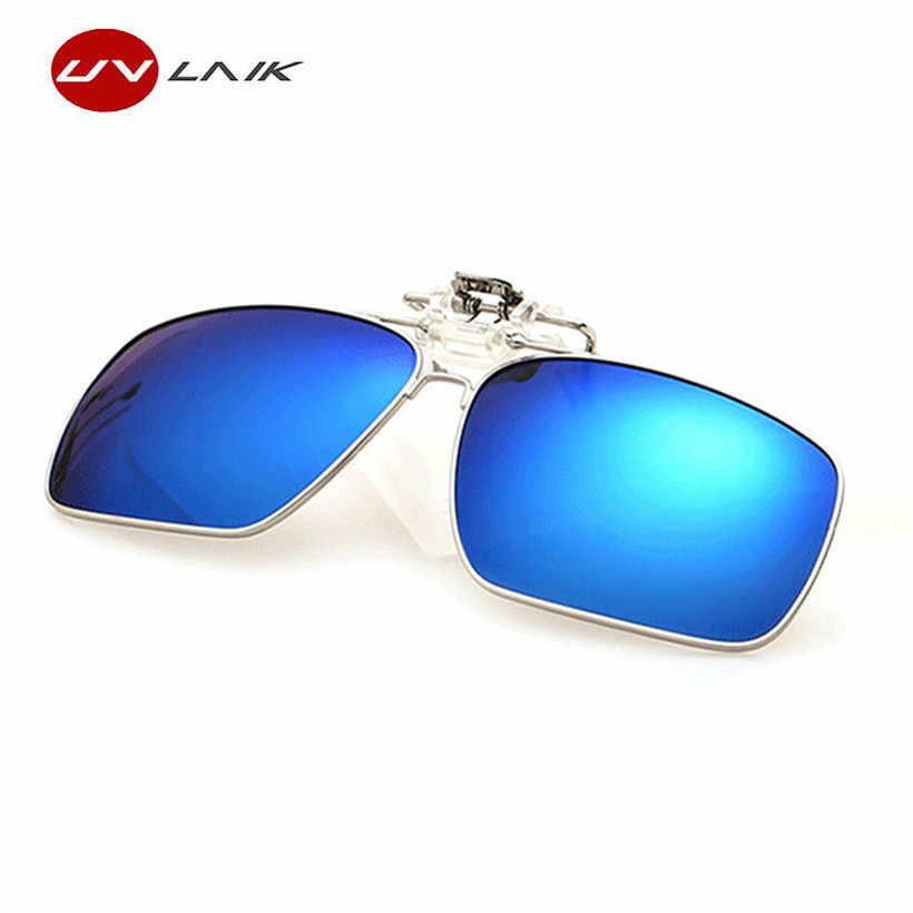 b7e0acae21935 UVLAIK Polarized Sunglasses Clip on Myopic Glasses Women Men Clip on Sun  Glasses Driving Night Vision