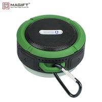 C6 Portable Waterproof Wireless Bluetooth Shower Speaker With Sucker Cup Carabiner Buckle Handsfree Memory Card For
