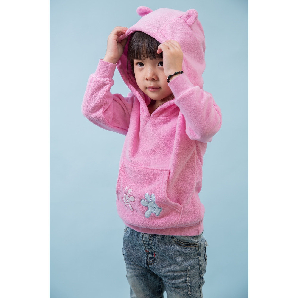 Blazer children 's spring new sweater single girls jacket T – zone children with caps leisure pullovers