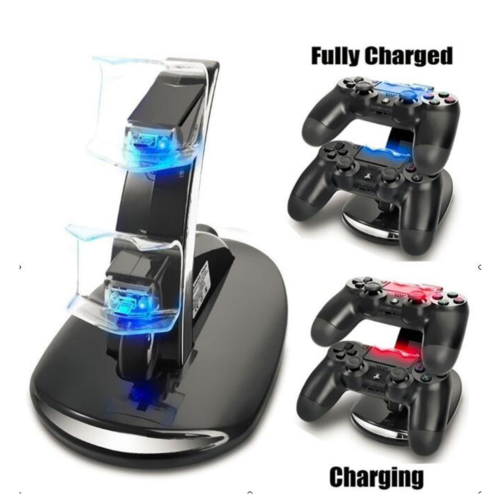 xunbeifang Dual Controller Holder Charger 2 LED Charging Dock Station Stand for PS4 for Playstation 4 Controller Game