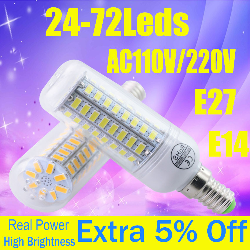 Bright Energy Saving E14 LED Lamp 110V 220V E27 LED Spot Light Bulb Home Lampadas Led 5730SMD Lampada E27 Lamp Bulb Spotlight