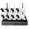 Sistema de 720 P NVR CCTV 4/8 UNIDS P2P 720 P HD Inalámbrico Al Aire Libre Wifi IP Sistema de Vigilancia de Seguridad CCTV Cámara de INFRARROJOS de Visión Nocturna Kit