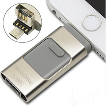 16GB 32GB 64GB 128GB iOS Flash Drive For iPhone iPad iPod Android Storage Pendrive OTG USB 2.0 Memory Mini USB Flash Drive Disk